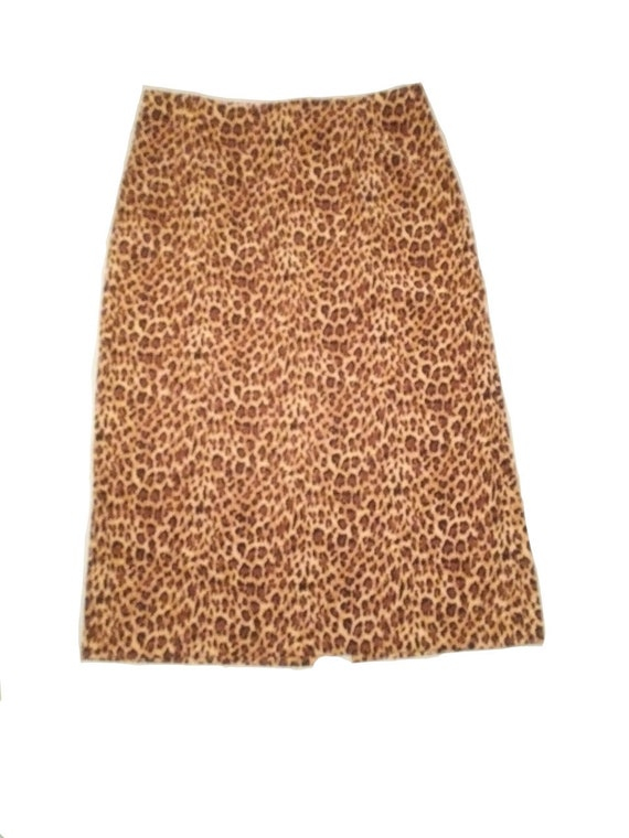 Plus Size Vintage Leopard Print Maxi Skirt by Brig