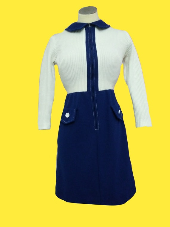 1960s Mod Color Block Dress by Toni Todd