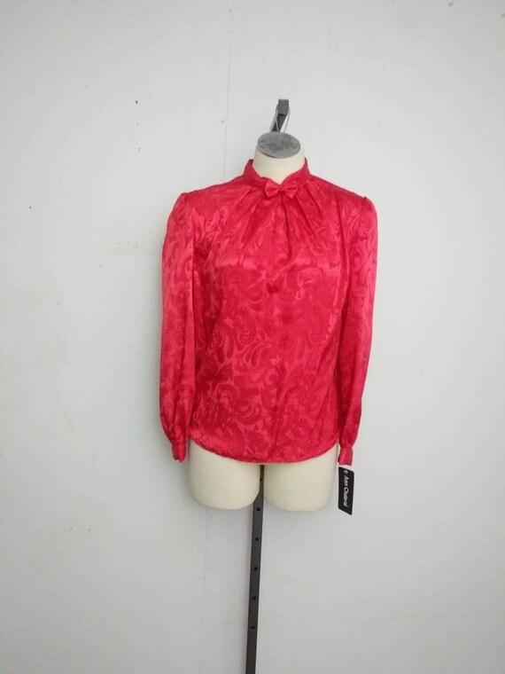1980s Puffed Sleeve Blouse