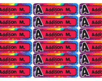 72 DrumsRockstar  WATERPROOF CAMPSCHOOL name labels