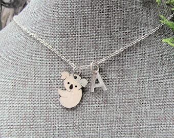 Handmade koala jewelery set