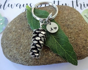 acrylic, black and white, accessory, gift PINECONE keychain