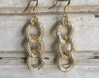 Gold chunky chain