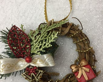 Items Similar To Knit Wreath Ornament Pattern Pdf On Etsy
