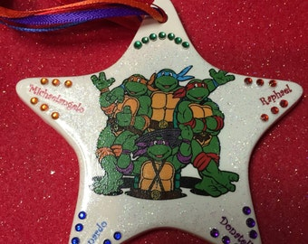 Teenage mutant ninja turtles teo-sided personalized custom Christmas ornament