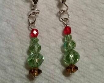 Oh Tannebaum~Christmas Tree Earrings