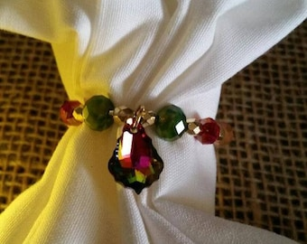 """Wine Glass Charms~""""Festival""""~, Champagne Glass Charms, Party Decor, Wine Flute Charms, Mardi Gras Charms, Party Glass Charms, Colorful Charm"""