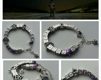 NO darkness - NO stars quote bracelet