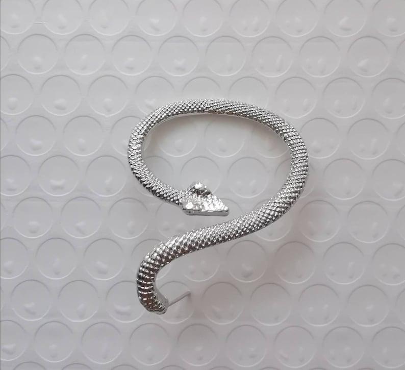 large snake silver studs earrings  silver snake ear hanger  boho gothic snake earrings  gift for her  unisex metal earrings men earrings