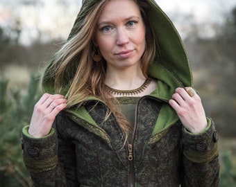 FlowerSpell Jacket ~* Bohemian Big Hooded Fairytale Jacket