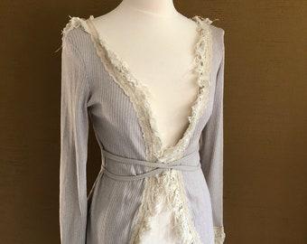 Aura Vest. ~* Bohemian Lace Wrap Vest
