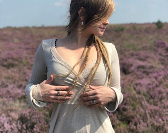 Wonderland Dress ~* Sand Color Elven Lace Dress