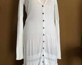 SH Long Bohemian Cotton Lace Vest