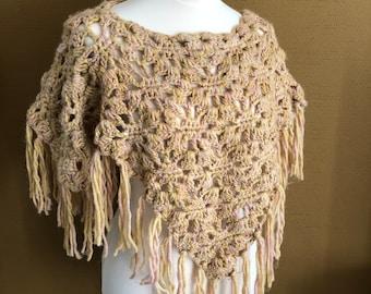 SH Bohemian Crochet Poncho