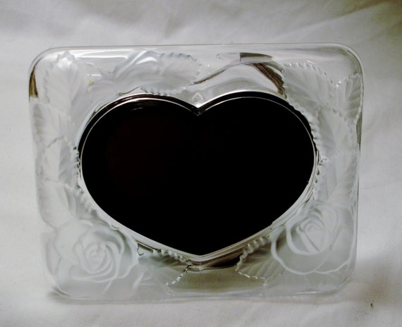 Superior Crystal Photo Frame Heart Shape By Home Beautiful Original | Etsy