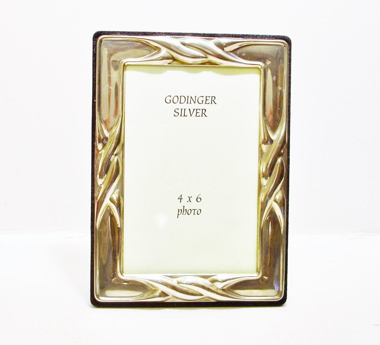 Vintage Godinger Silver Photo Frame with Twisted Rope Design 4