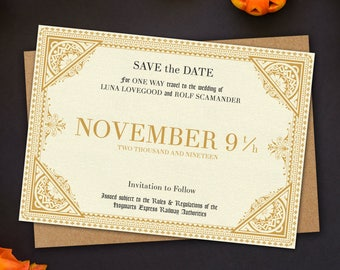 Hogwarts Express Inspired Save the Date A6