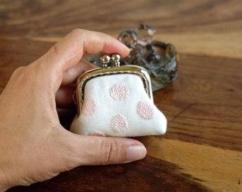 Little Girl/'s Handwoven Petite Kisslock Purse Mint Chocolate