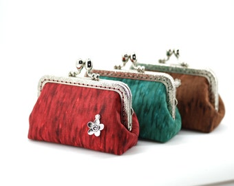 Elegant Kisslock Pouch - 3 colors