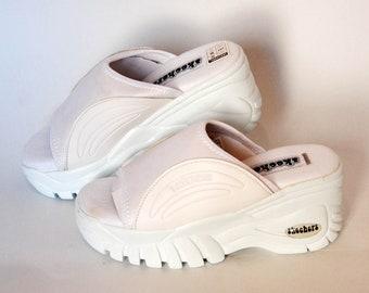 78ee7c5e00a9 skechers platform slippers japanese sandals vintage platforms slides 90s  shoes giant summer shoes white slippers clogs punk y2k goth rock
