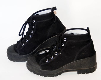 8c4d09f2485 platform shoes sneakers womens vintage platforms chunky sneakers high tops  shoes goth rock shoes buffalo boots black size eu 38 us 7 uk 5