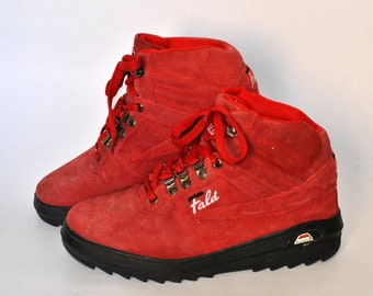 vintage comfort shoes walking 90s sneakers size eu 40 uk 7 us 9 womens chunky sneaker Military boots trail Walking Hiking red combat