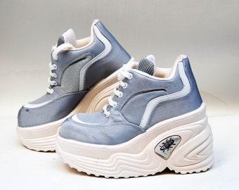 3bdc635e47fe platform shoes vintage platform platform sneakers silver platform boots  cosplay shoes 90s platforms womens platform high fashion shoes