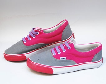 vans sneakers 90s sneakers vintage canvas shoes canvas shoes flat sneaker  skate board shoes pink gray shoes vans high tops casual shoes 9cde623ca9