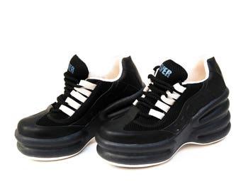 8cbcb7a7901 platform shoes vintage platform platform sneakers black platform boots  leather black shoes 90s platforms womens platform high fashion shoes