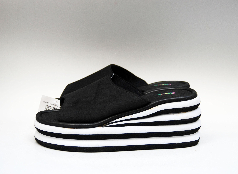b335e4e8f47 Platform slippers Japanese sandals black foam slippers comfort