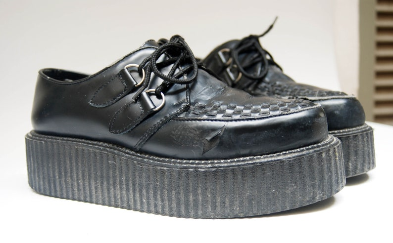 0935cb24b3 Platform creepers Demonia shoes mens platforms black leather