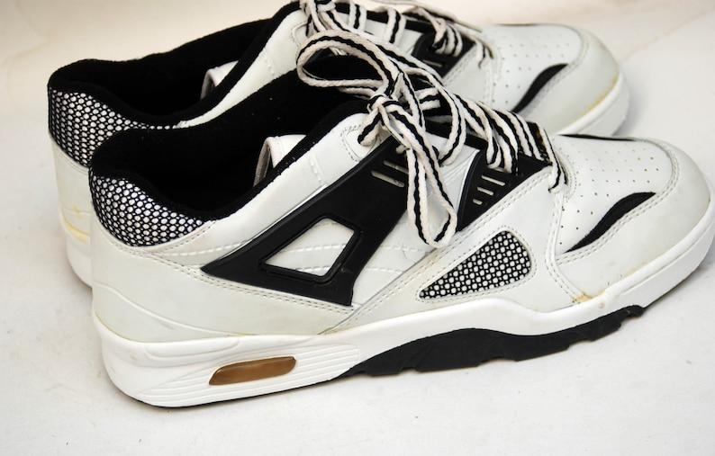 4ccdaf7d8d6f9 sport shoes vintage sneakers retro athletic shoes 80s 90s size 41 uk 8 us  10 black white shoes men women sneakers retro shoes sport wear