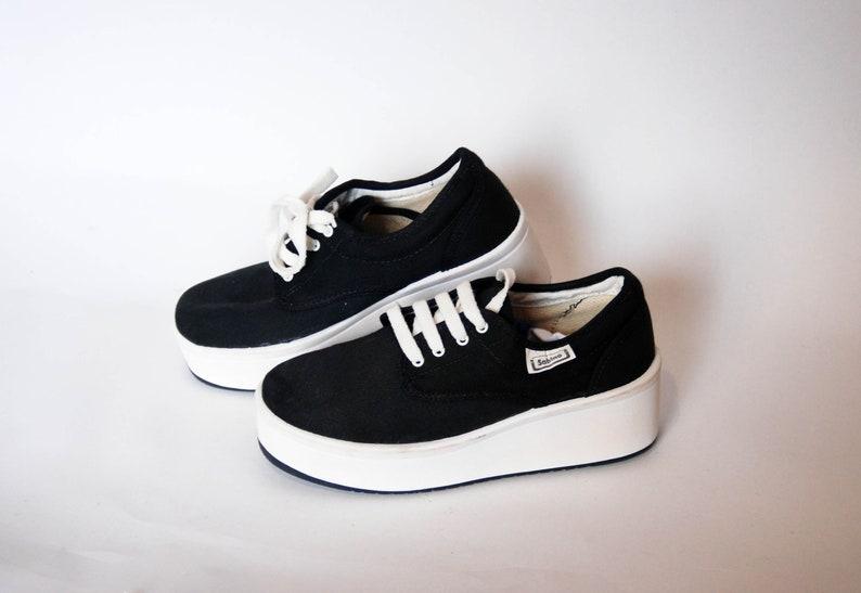bccad6e3aba77 platform shoes sneakers womens vintage platform chunky sneakers canvas  black vintage high tops goth rock shoes size eu 37 uk 4 us 6