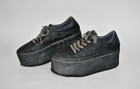 platform shoes glitter sneakers buffalo boots wome