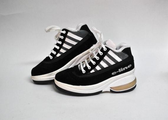 platform sneakers shoes black boots 90s kawaii sho
