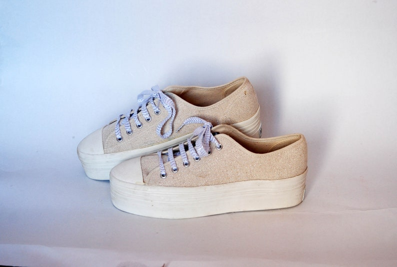 canvas shoes 90s sneakers style flat tie sneakers womens shoes size eu 40 us 9 uk 7 platform 90s beige grunge joggers summer shoes