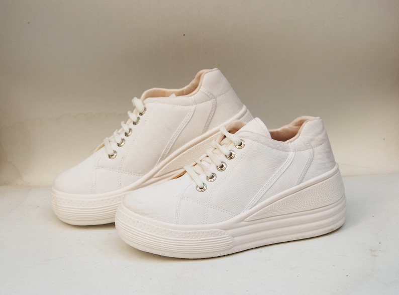 9bc6ed96b60c Platform shoes sneakers womens platform chunky sneakers canvas