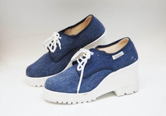Platform shoes sneakers womens vintage