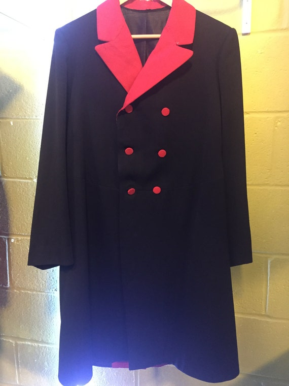 Edwardian Frock coat, black and red, circus, steam