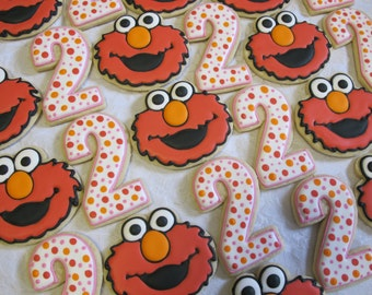 Sesame Street Elmo And Number Decorated Sugar Cookies Collection