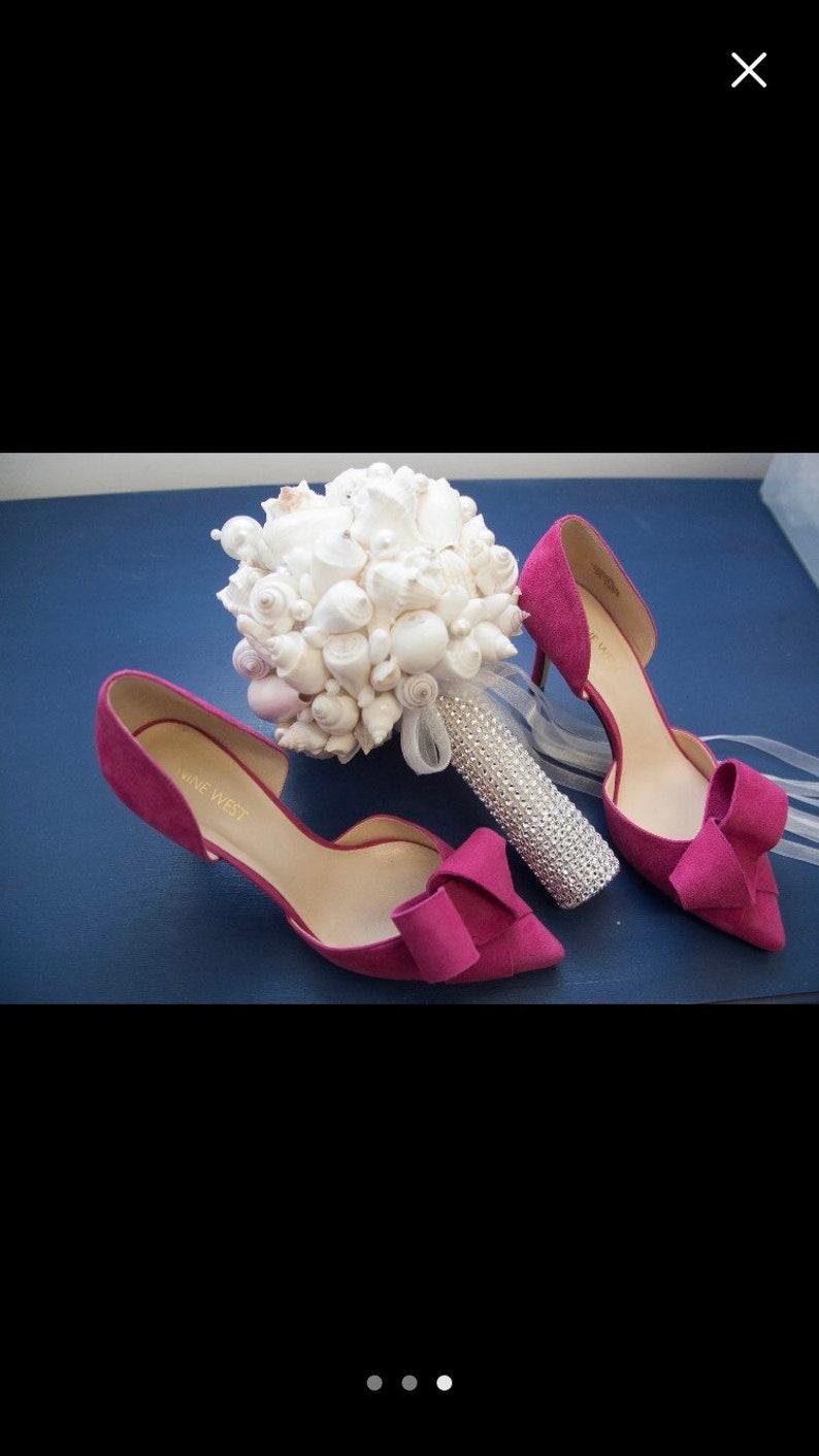Xo bouquet seashell beach wedding bouquet special listing three 18 inch 1 21 inch bride