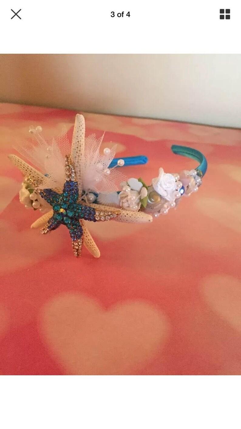 Bling starfish headband beach wedding