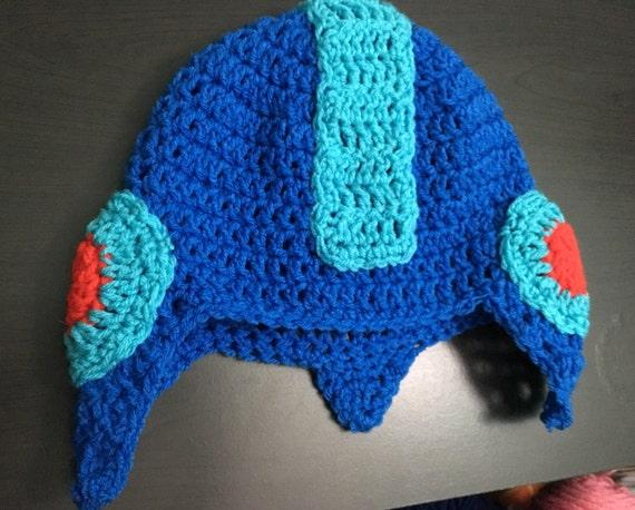 Mega Man Crochet Hat Etsy