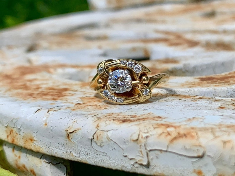 Vintage Alternative Engagement Ring Circa 1960s 18k Yellow image 0