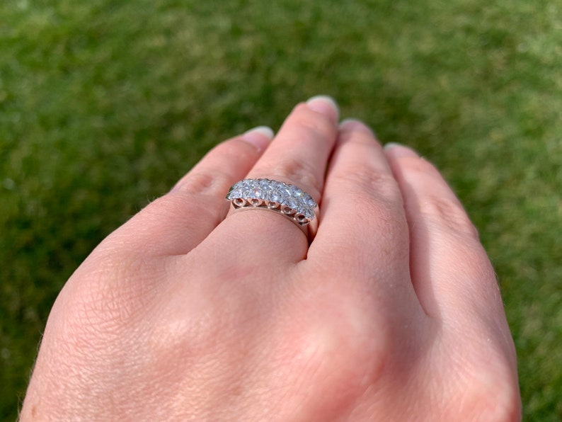 Platinum 1950/'s 3.2mm Simple Rounded Wedding Band Ring Size 5.5