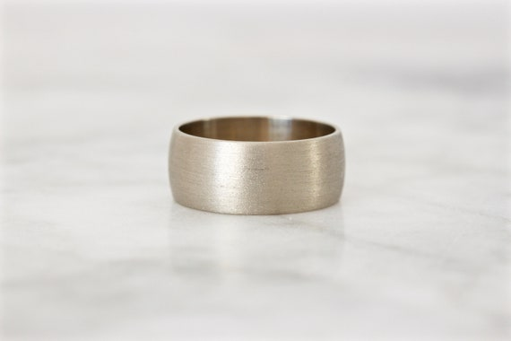 Extra Wide Sterling Silver Band Size 7 Textured Statement Ring