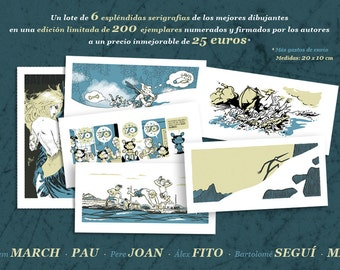 COMICNOSTRUM 2012. 6 Serigraphies from 6 greatest comic artist