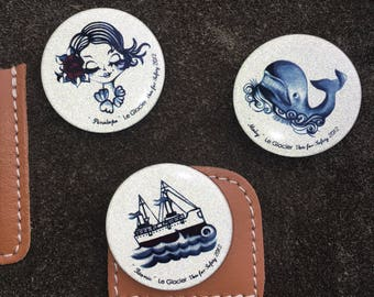 Print reflective badges