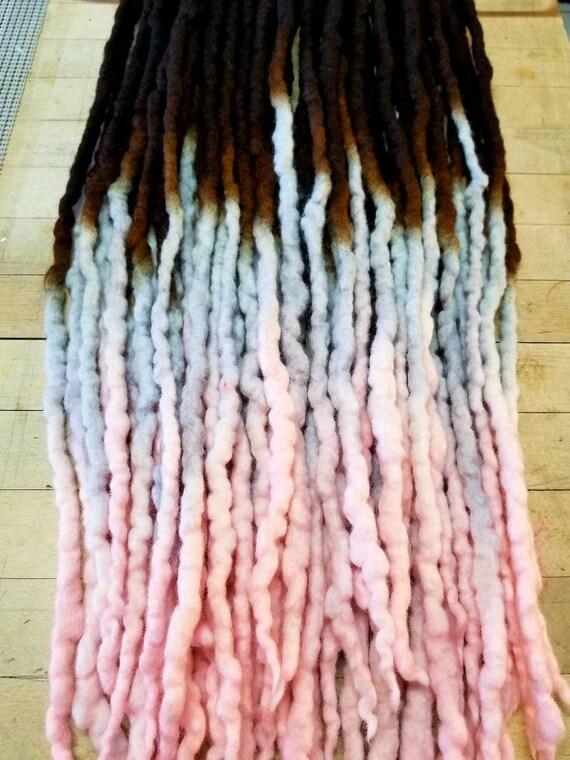 Wool Dreadlocks Custom Wool Dreads Handmade Hippie Dreads Hair Etsy