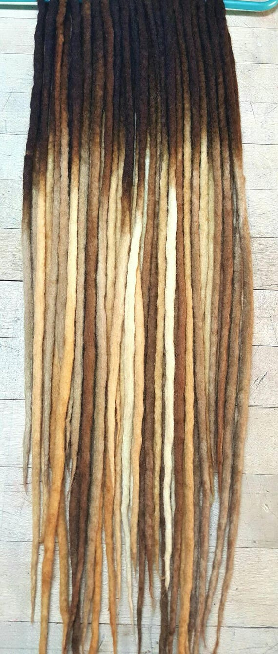 Custom Wool Dreads Handmade Hair Extensions Wool Dreads Ombre Etsy